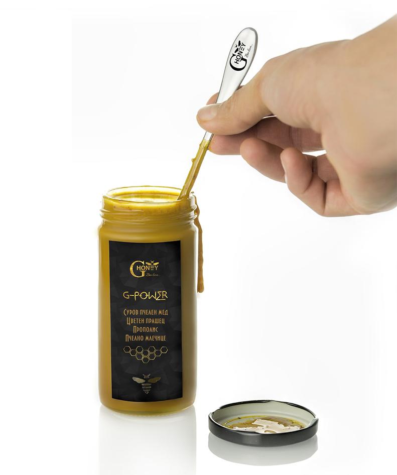 Метална лъжица за мед