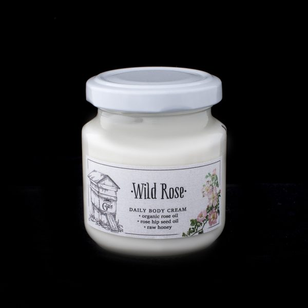 GHoney Daily Body Cream with organic rose oil, rose hip seed oil and raw honey