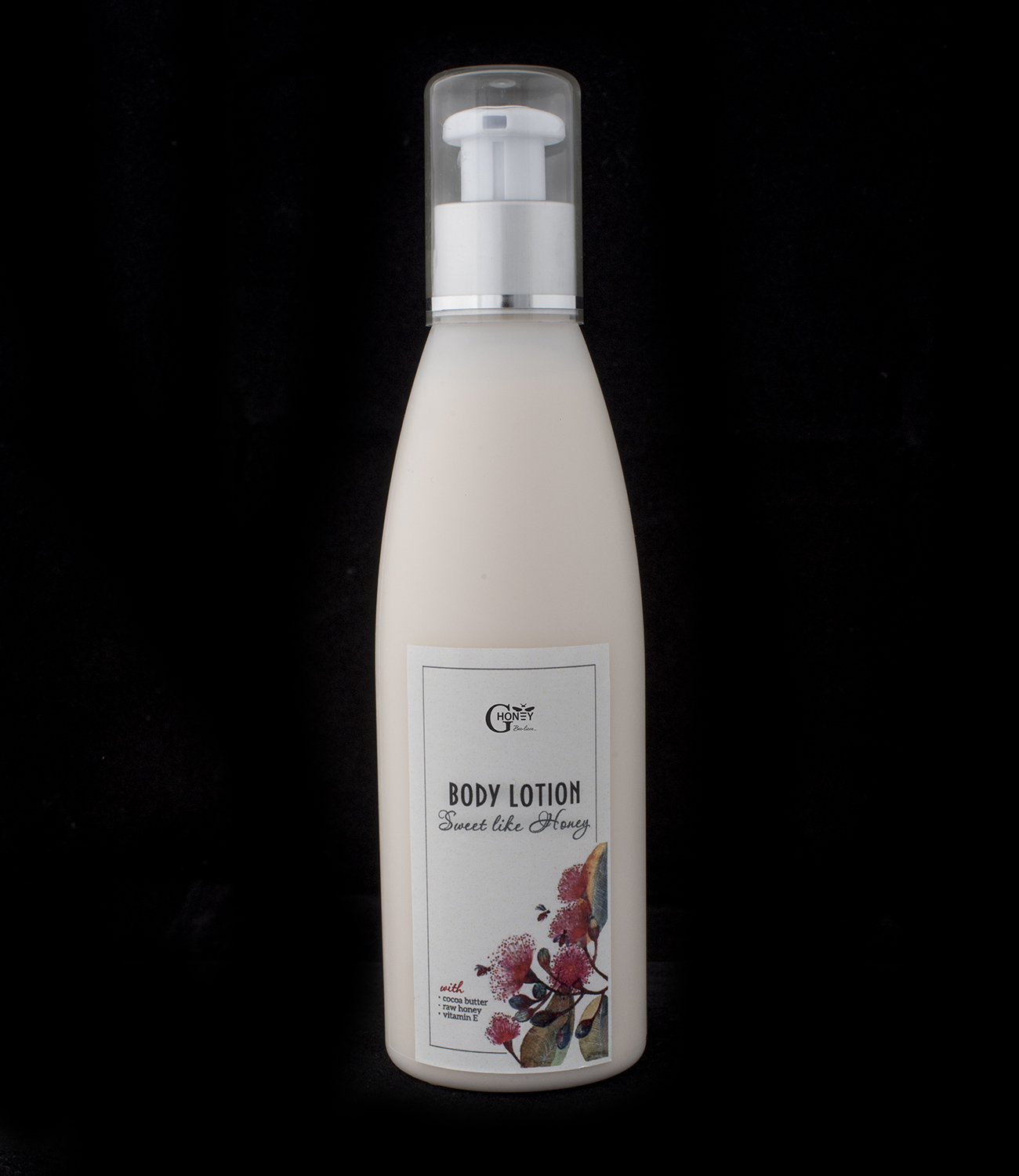 GHoney Body Lotion wth cocoa butter, raw honey and vitamin E
