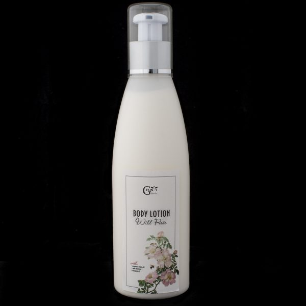GHoney Body Lotion wth organic rose oil, raw honey and vitamin E