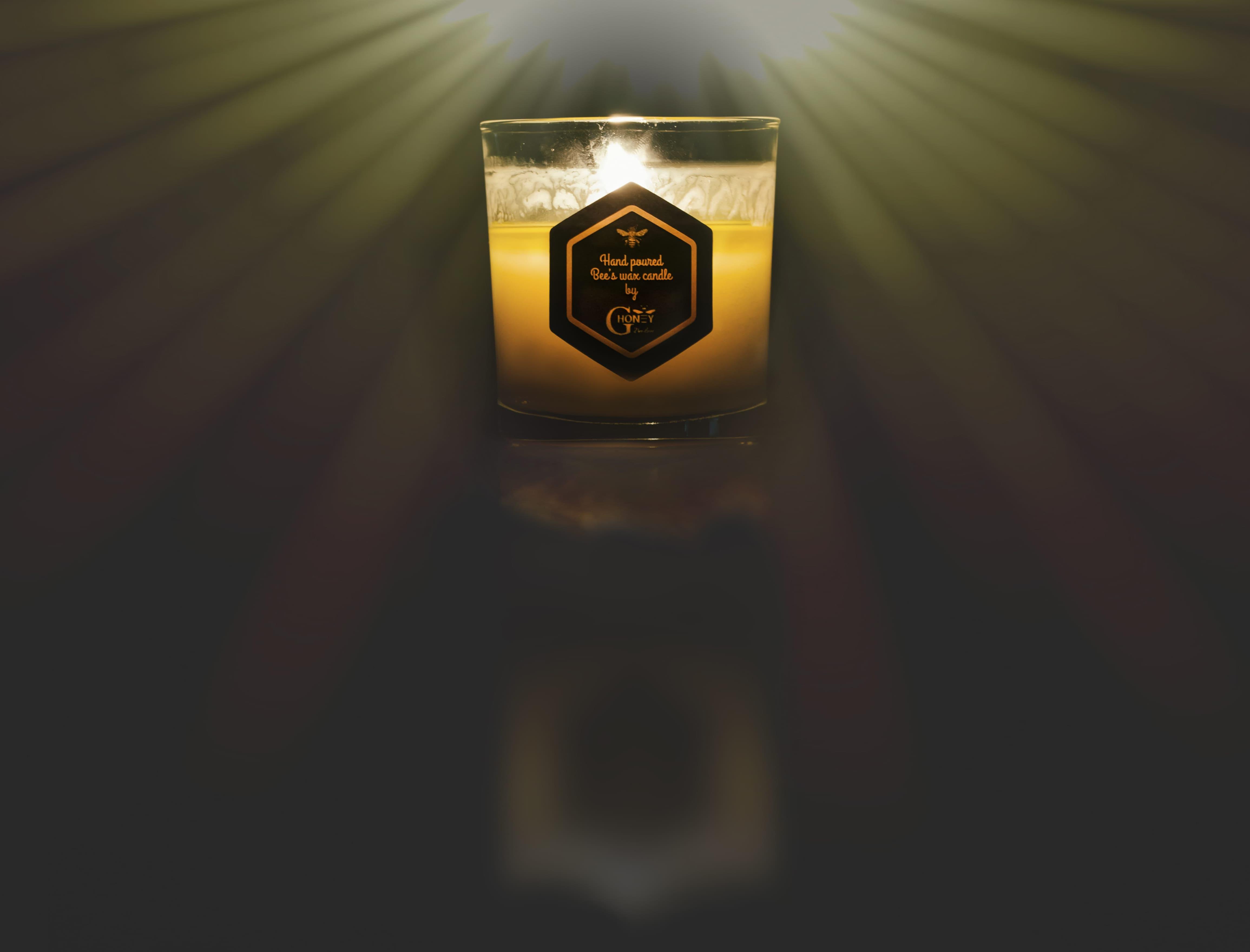 Ароматна свещ с пчелен восък GHoney