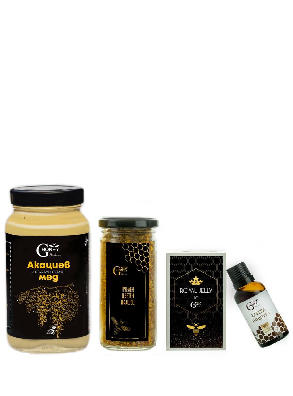 Здравословен сет от пчелни продукти